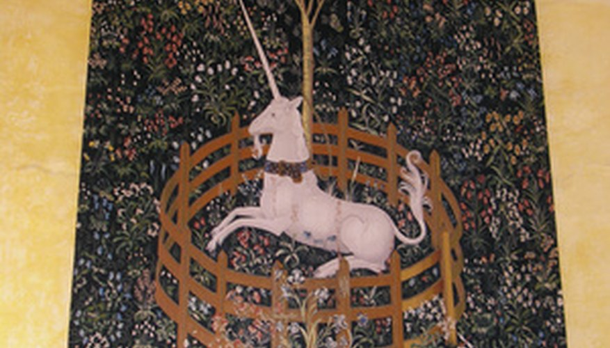 A famous antique tapestry: the Unicorn Tapestry.