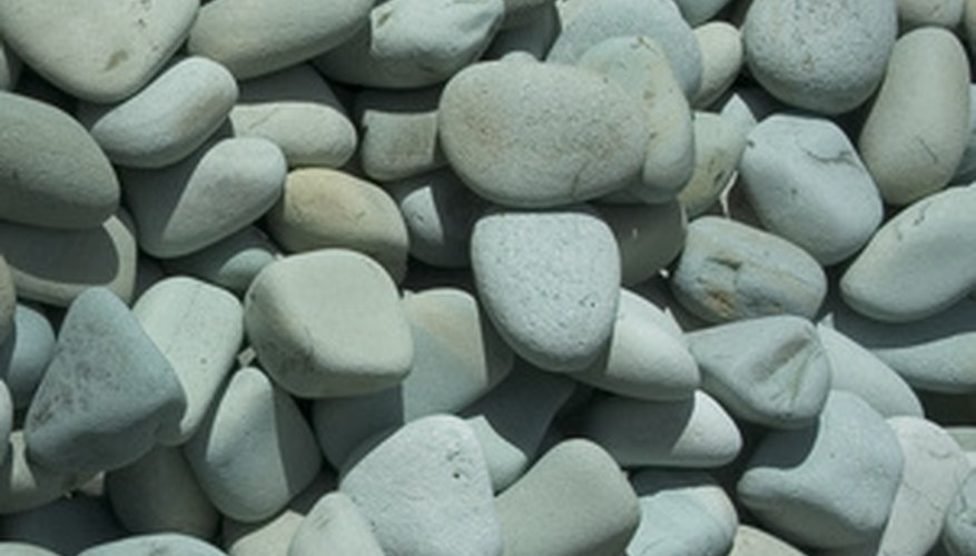 Pebbles are a wonderful alternative to sand.
