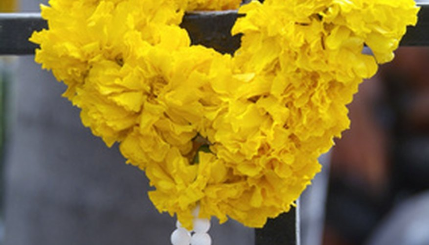 Carnations make a colorful garland.