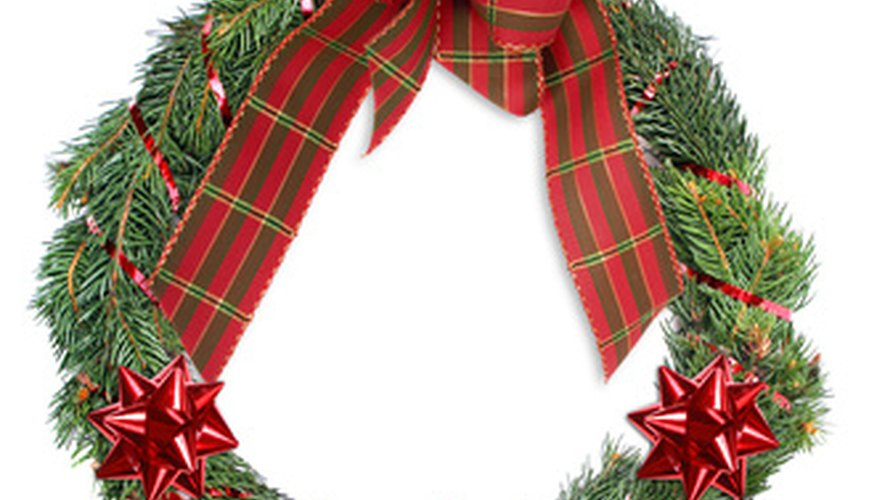A simple bow is the perfect touch to a completed wreath.