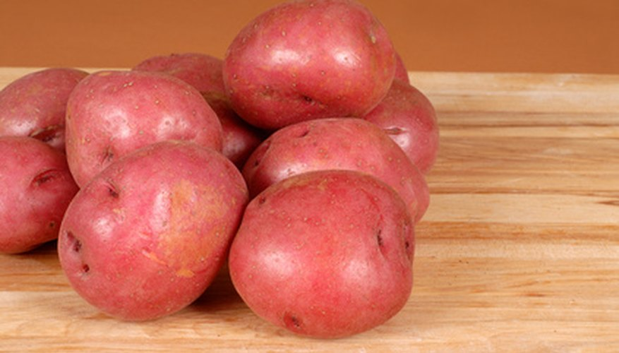 Red Pontiac potatoes have deep-set eyes.