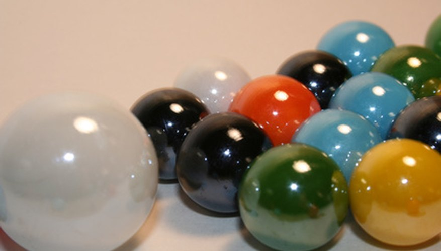 Marbles may be re-melted in a kiln and poured into moulds for different shaped objects