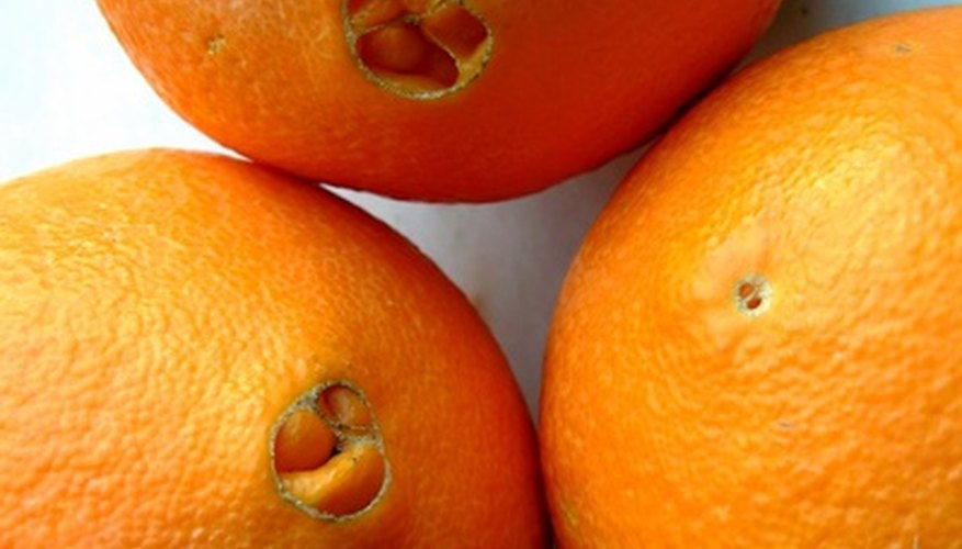 Navel oranges are sweet and easy to peel.