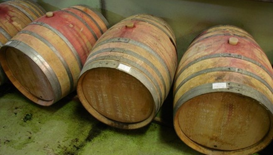 Half wine barrels make good tubs for vegetables.