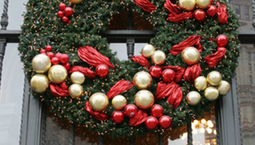 Wreath with holly