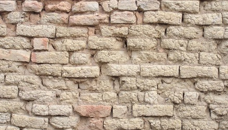 A wall built with mud bricks.