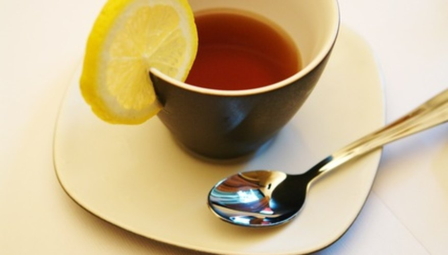 Homemade teas can be made from herbs.