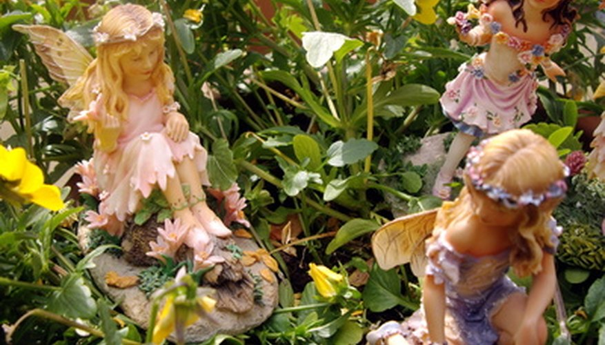 Some add miniature fairies to the fairy garden.