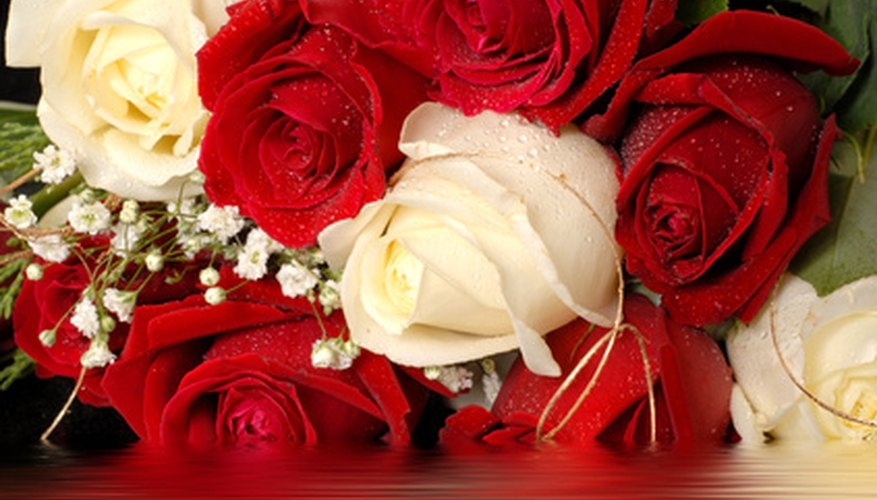 Red and white roses are a common symbol of unity.