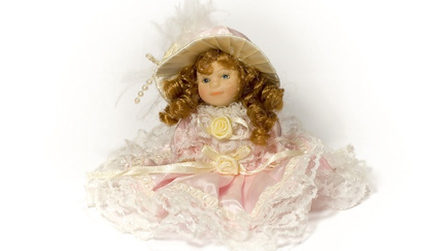 There are many replicas of antique porcelain dolls that are relatively inexpensive.