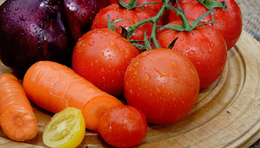 Although a fruit, tomatoes are grown and used as vegetables.