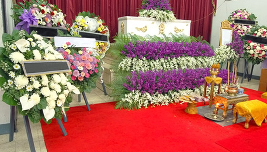Many different floral arrangements can adorn a funeral.