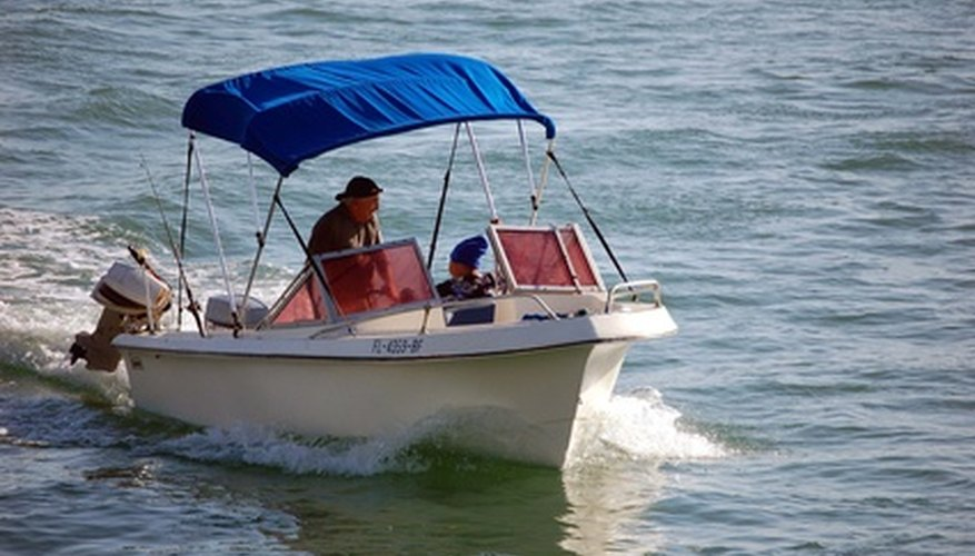 The outboard motor's cooling system is essential to prevent overheating.