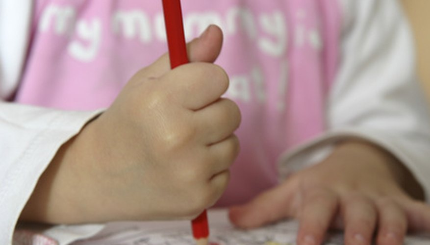 Fine motor skills necessary for drawing are part of childhood physical development.
