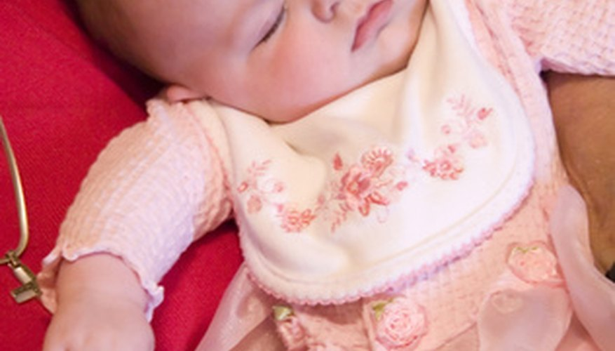 Healthy babies sometimes grunt, groan or sigh while they sleep.