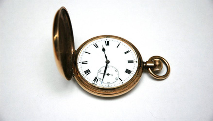 A pocket watch with a front cover has what is known as a hunting case.