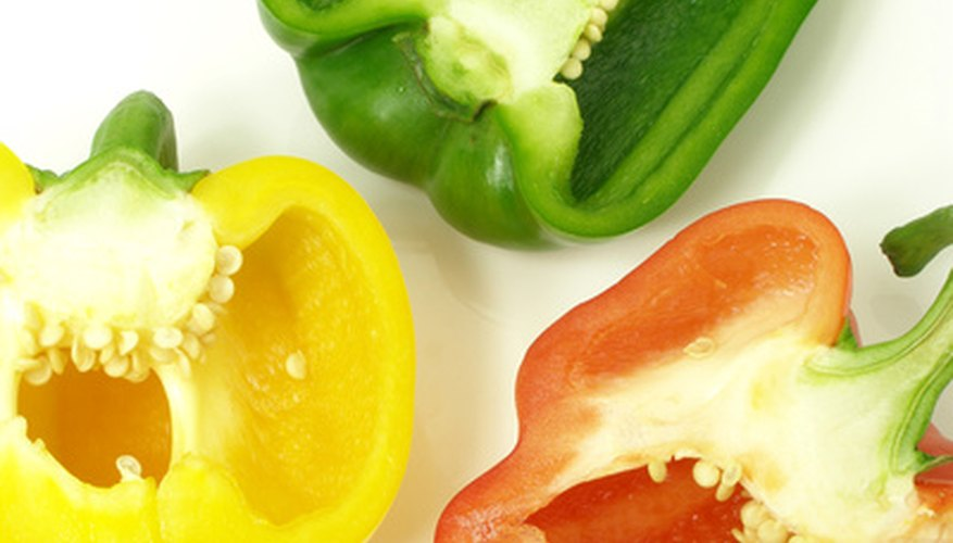 Bell pepper color varies depending on the acidic level in soil.