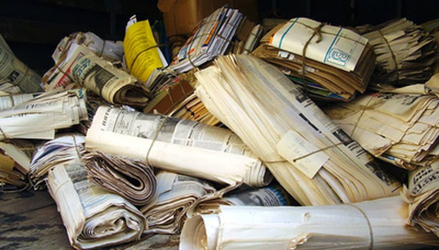 Organic waste products include newspaper and cardboard as well as common kitchen scraps.