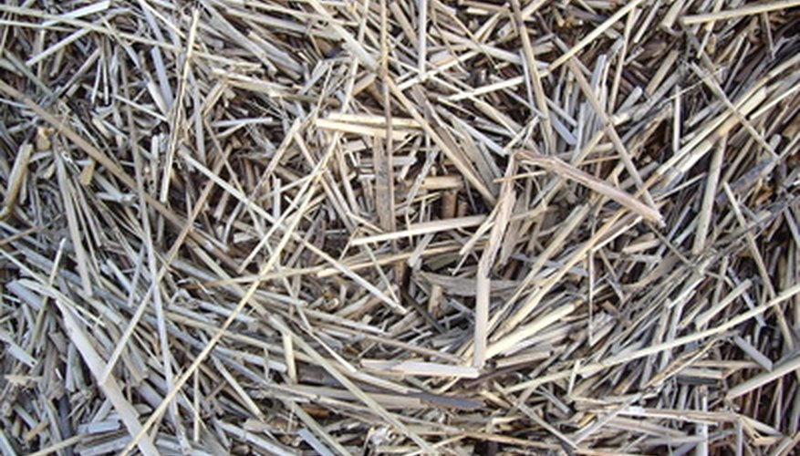 Use straw to add carbon to a manure-based compost recipe.