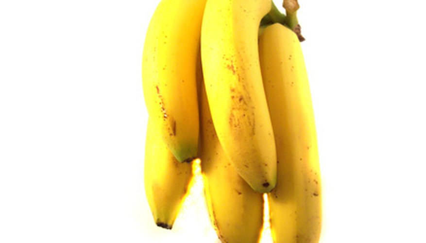 Bananas will be ready to eat when dark yellow with brown specks.