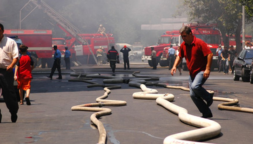 Fire hoses are much larger than garden hoses.