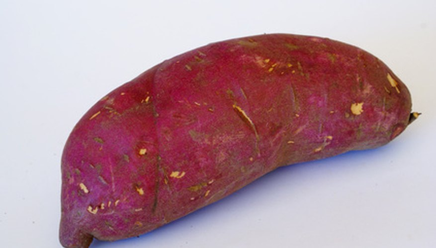 Sweet potatoes range from yellow to deep red in color.