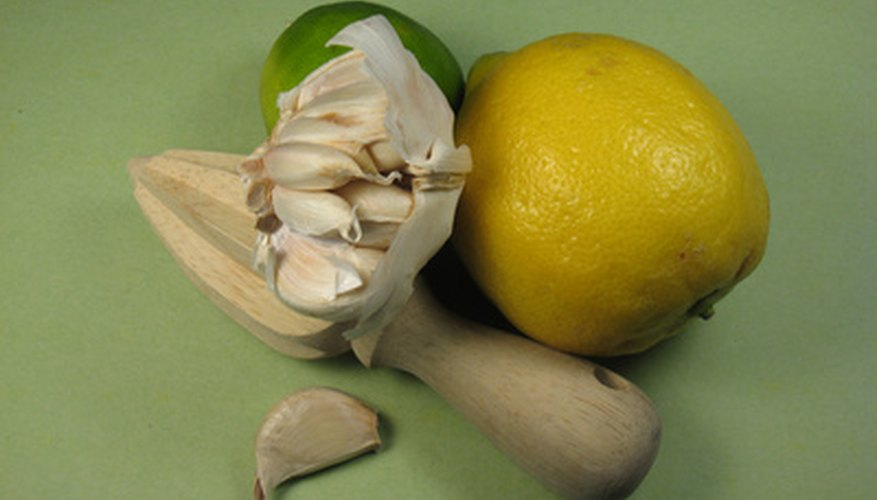 Garlic and lemon not only grow well together, but can be used consistently together in the kitchen.