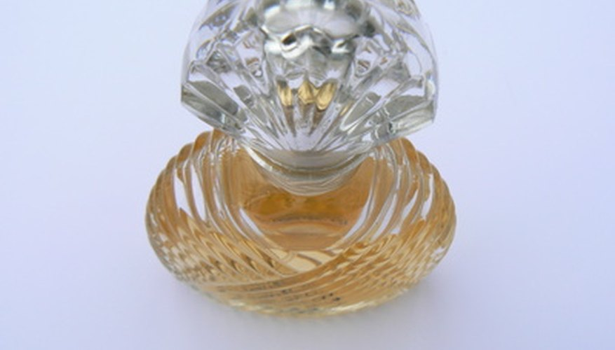 Perfume bottles are an example of cut glass products.