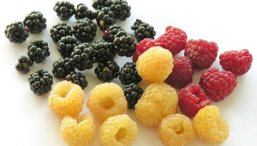 Raspberries come in a variety of colors including yellow, black and red.