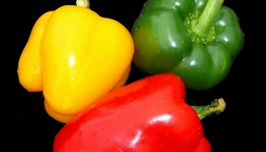 Sweet peppers change colors as they ripen.