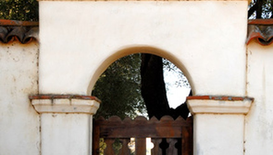 The mission's gate to the central courtyard garden.