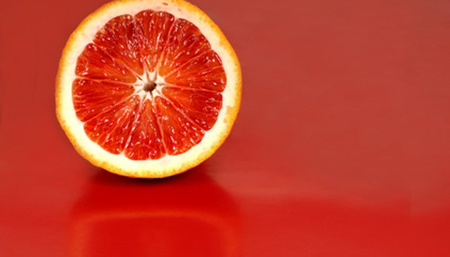 Blood oranges provide that citrusy flavor with a little more bitterness.
