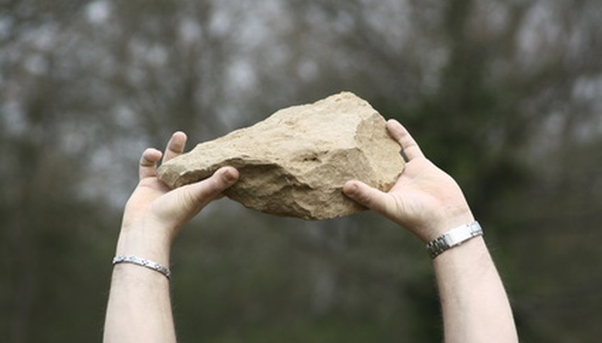 Stones will remain at rest until a force causes them to move.