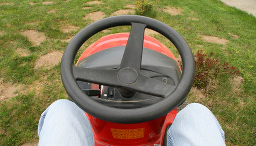 Lawn tractors need correct tire pressure to operate effectively.