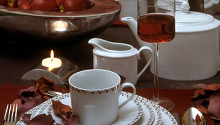 Porcelain is the most valued dinnerware