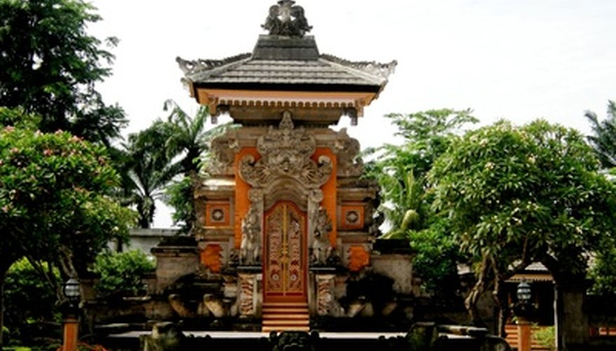 Bali designs are Asian-influenced and include lots of bright details