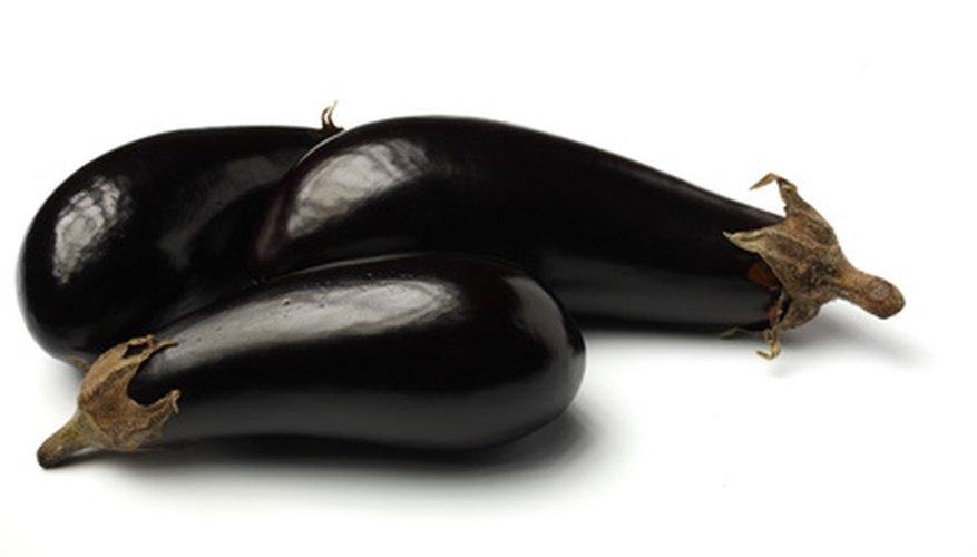 Grow eggplants in a small patio garden.