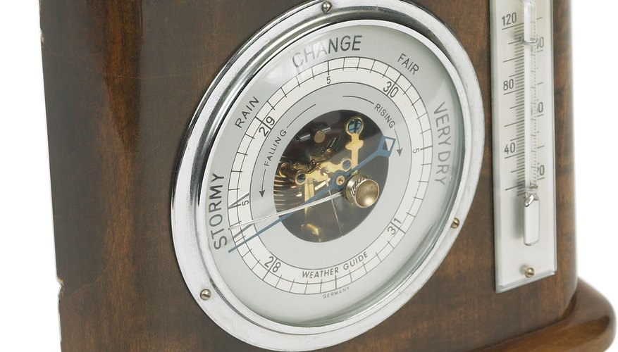 Changes in barometric pressure are usually accompanied by changing weather.