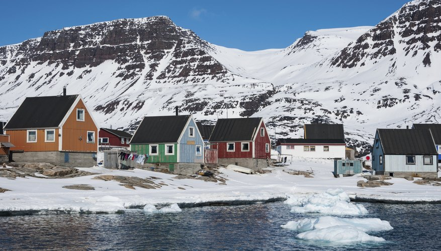 Much of Greenland, an administrative division of Denmark, lies above the Arctic Circle.