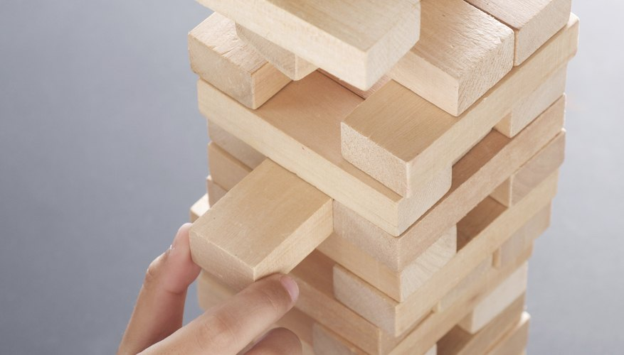 Strategy is as important as steady hands for victory in Jenga.