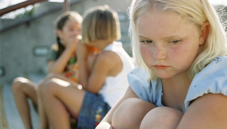 Problems with peers can cause low self-esteem in elementary school girls.