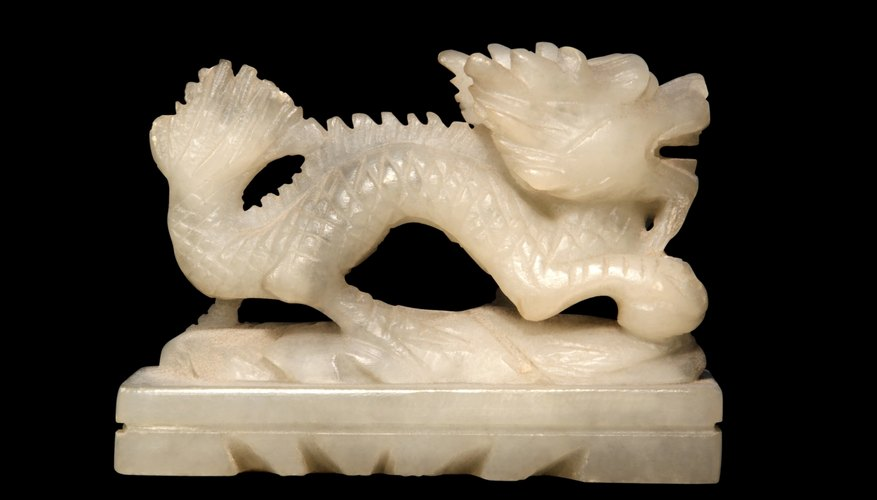 Soapstone dragon sideways