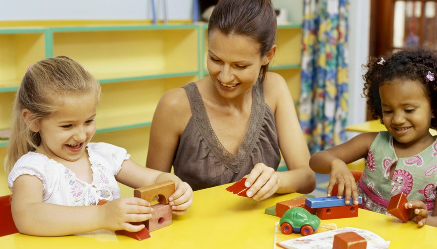 Preschoolers now have the skills to build more intricate objects.