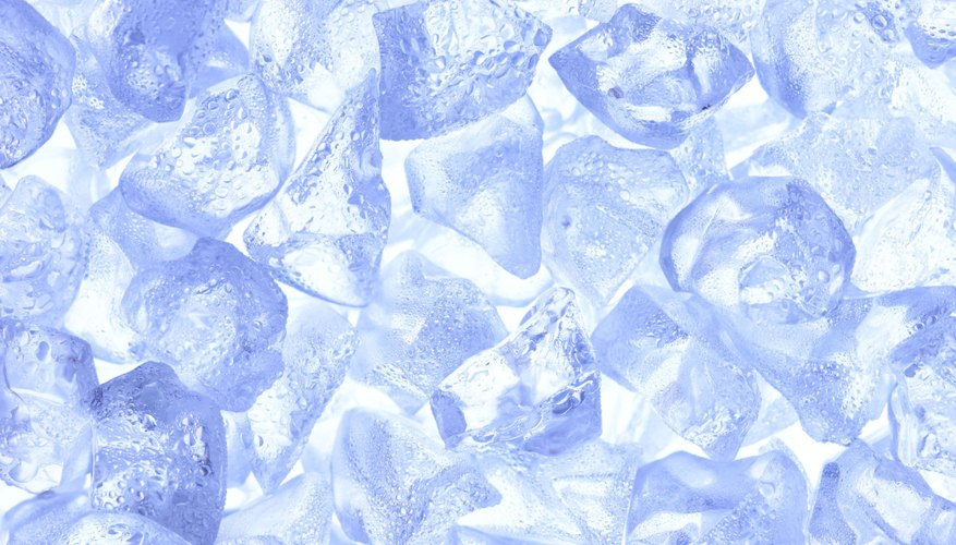 Crushed ice with salt will provide a greater surface area on which salt can be dissolved, resulting in faster melting.