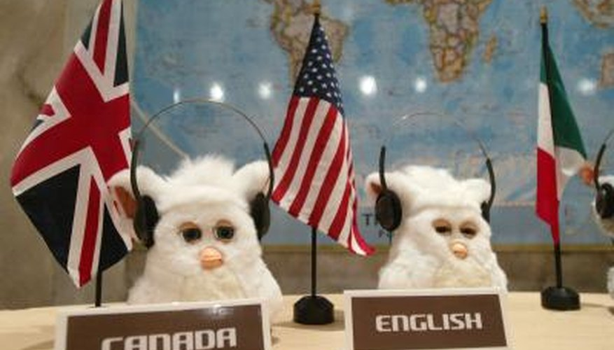 The Emoto-Tronic Furby at his seat on the U.N. Security Council.