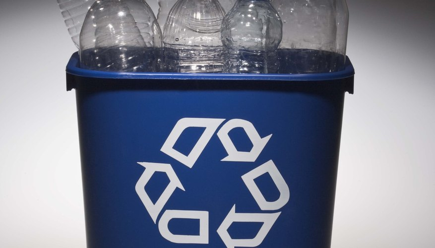 Save recyclable bottles for a series of planters.