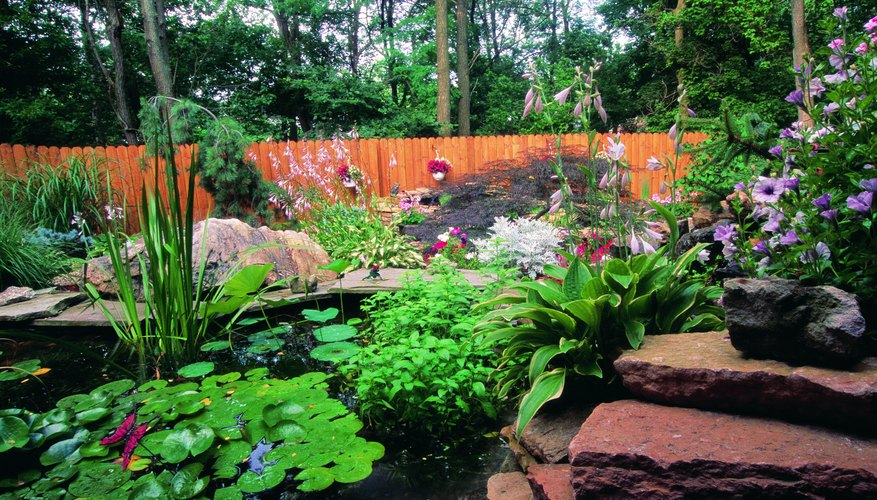 Place rocks throughout your garden for a classy look.
