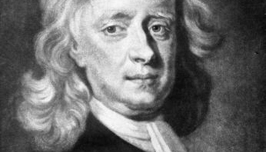 Sir Isaac Newton formulated the three elementary laws of motion.