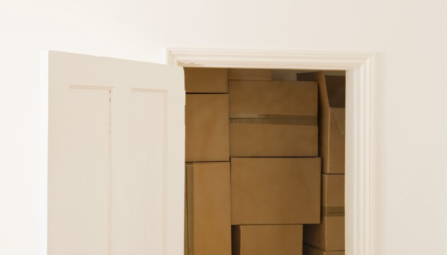 A stack of cardboard boxes can work as a thermal insulator.