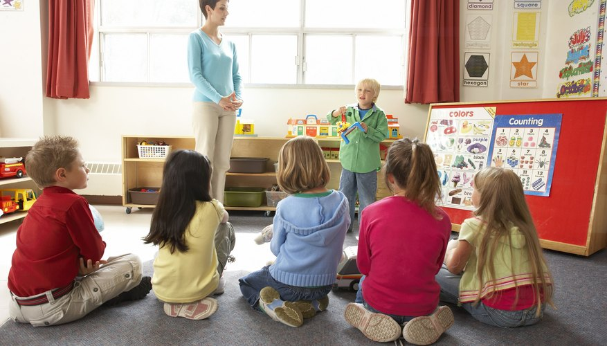 Show and tell teaches the kids social skills and patience.